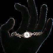 Vintage Ladies Hera Quartz Wrist Watch with Hematite Stones.