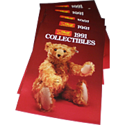 Five Steiff 1991 Collectibles Catalogs