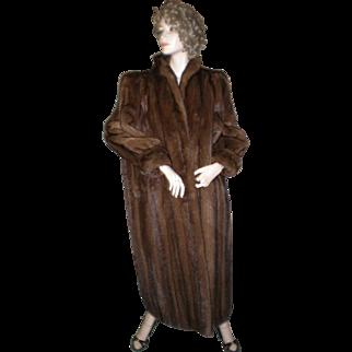 Delux Couture Mahogany Mink Coat - Male Pelts.