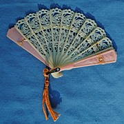 Miniature Lacy Fan...Circa 1940