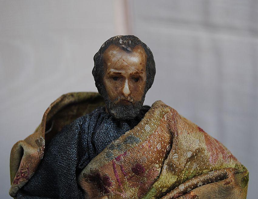 French Wax Creche Figure.....Circa 1890-1920