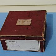 Miniature French Hatbox From Au Bon Marche, Paris..Late 19thc