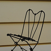 SALE Charming French Wire Chair For A Small Bebe...Circa 1870-1890