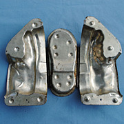 French Chocolate Mold...Hinged....Old Shoe