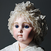 SOLD Hand Made Lamb Skin Wig For A Large French Doll