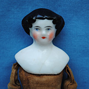 """As Is"" 19th c. China  Dollhouse Doll"