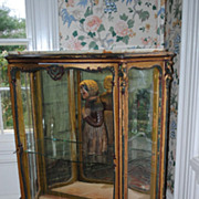 SALE Circa 1890-1900 French Mirror Backed Display Cabinet...Onyx Top!