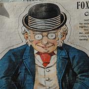 Uncut ! Foxy Grandpa Printed On Fabric Doll ...Circa 1910