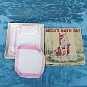 "Charming Boxed ""Dolly's Bath Set""...Great Accessory"
