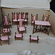 Boxed Set French Dollhouse Furniture Circa 1890-1900