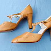 SALE French Shoes Circa 1940-50.....Never Worn....Fantastic Workmanship