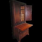 SALE American Country Cherry Secretary Desk....Circa 1830