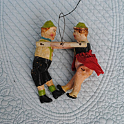SALE Circa 1890-1900 German Dancing Couple Toy For A Big Doll