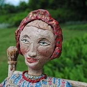 Circa 1930-40 American Folk Art Doll