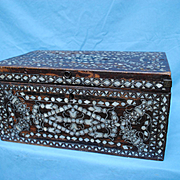 19th c. Indian Box With Mother of Pearl Inlay