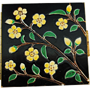 Circa 1940-50 Enamelled Compact by Rex Fifth Avenue