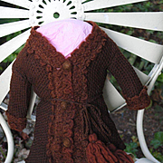 French Knitted Wool Top For A Jumeau Bebe