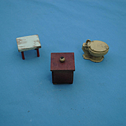 3 Dollhouse Items, Early 20th c.