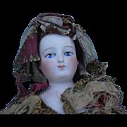 19th c. Francois Gaultier French Fashion Head Marotte