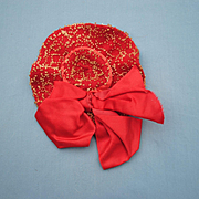 Bebe or Fashion Hat..2 Different Hand Sewn Decorative Patterns