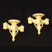 Vintage Yellow Porcelain Stalactite Ceiling Fixtures