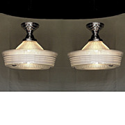 Vintage Holophane Sailors Hat Ceiling Fixtures Several available priced each