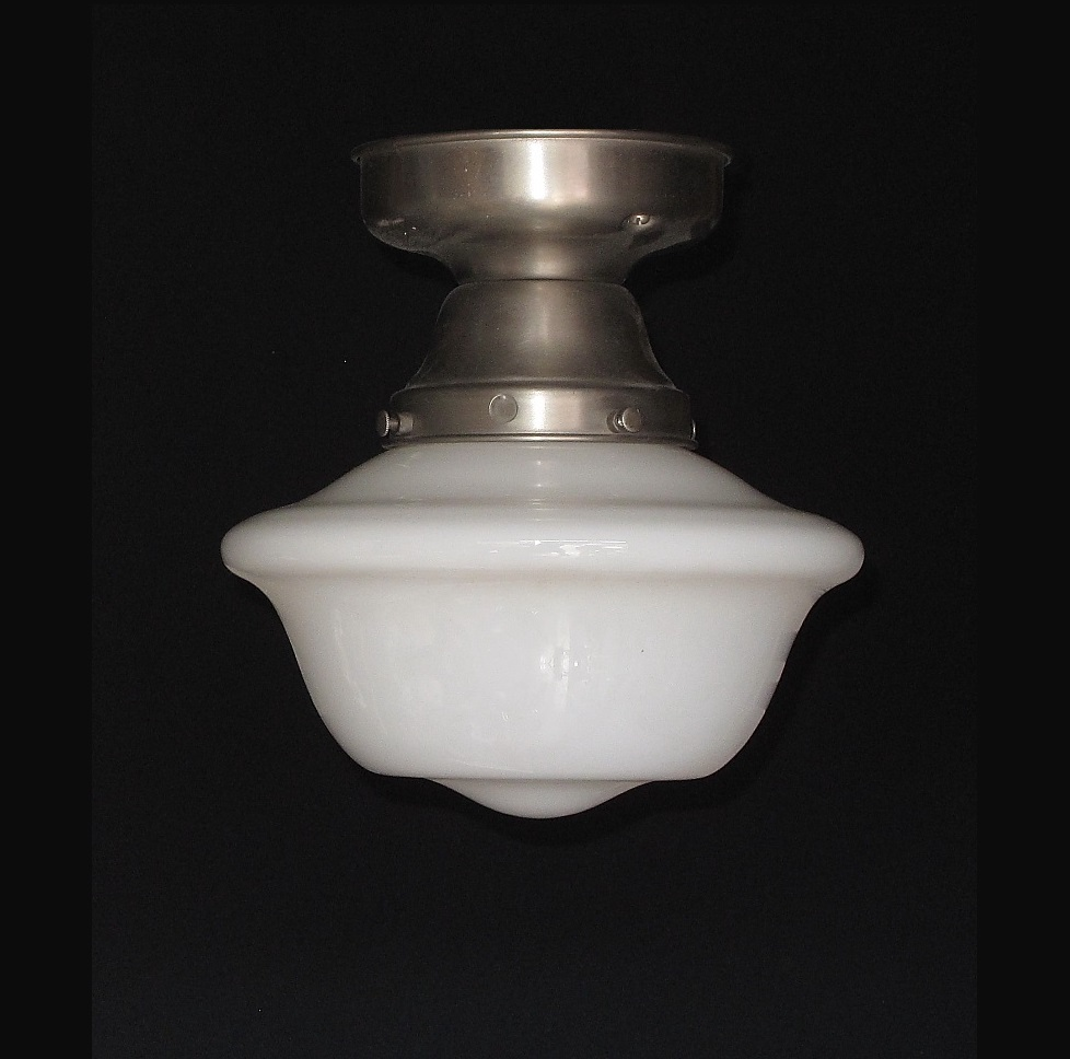 Vintage Schoolhouse Style Electric Ceiling Fixture From