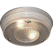 Vintage Flush Mount Holophane Mid-Century ceiling fixture. Several available, priced each