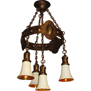 All Original 1910 Craftsman 4 Drop Fixture