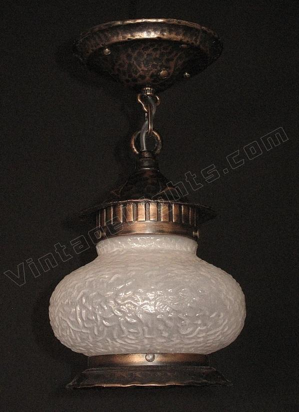 Pair Of Vintage Pot Belly Porch Lights 1920s 1930s Priced