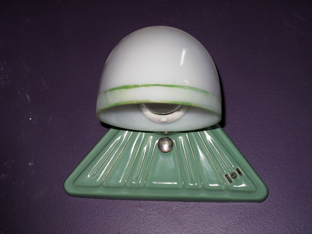 Vintage Green Porcelain Wall Sconce
