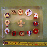 Vintage BSA Boy Scout 12 Regions Lucite Paperweight