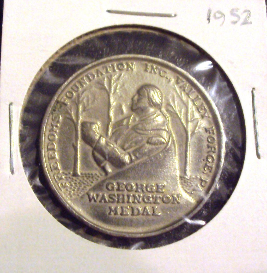 MOLD/DIE ERROR Boy Scout 1952 George Washington Medal