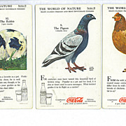 SALE 3  The World of Nature Coca-Cola Advertising Trade Cards Boy Scouts BSA