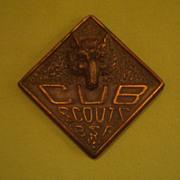 SALE PENDING Vintage Bronze Copper Cub Scout Paperweight