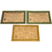 1930's Boy Scout Achievement Certificates