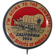 1953 Boy Scout National Jamboree Pinback Button Pins