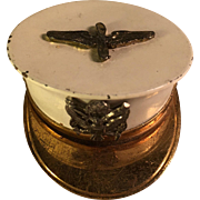 WWII Sweetheart Officer Cap Photo Locket Pin Air Force