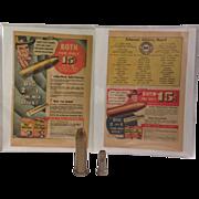 1950 Tom Mix Ralston Golden-Plastic Bullet Telescope and Magic-Tone Straight Shooter Bird Call