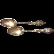 Baker Manchester Hallmarked Oklahoma Souvenir Sterling Silver Spoon - 2 Available