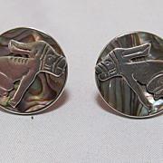 SALE Abalone Earrings