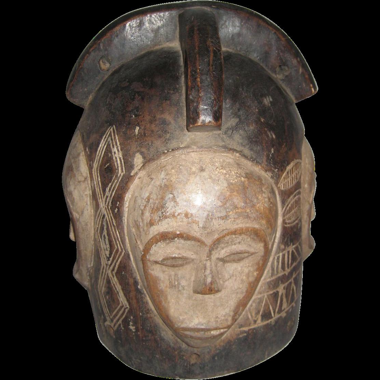 African  Helmet Mask Fang Tribe Gabon