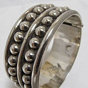 Old  Sterling Cuff Bracelet