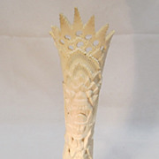 Indonesian Vase Bone Carving