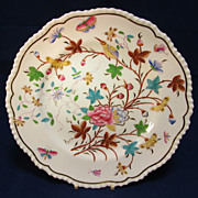 Antique English Floral Hand Decorated Porcelain Plate