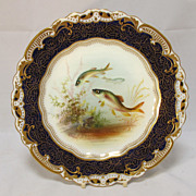 SALE English George Jones Hand Painted  Plate