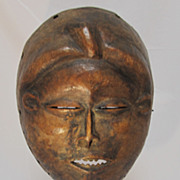 SOLD African Wood Mask on Stand