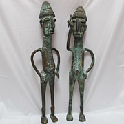 SOLD Pr Bronze African Warriors Benin