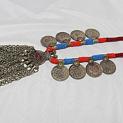 SOLD Tribal Coin Medallion Necklace   Arabic Symbols
