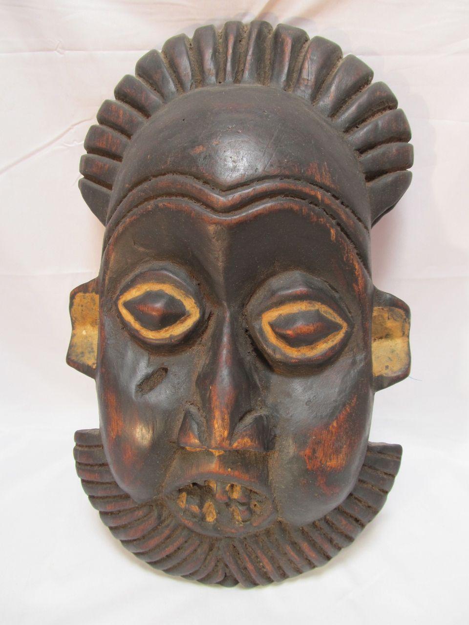 Primitive African Decorative Mask Wood